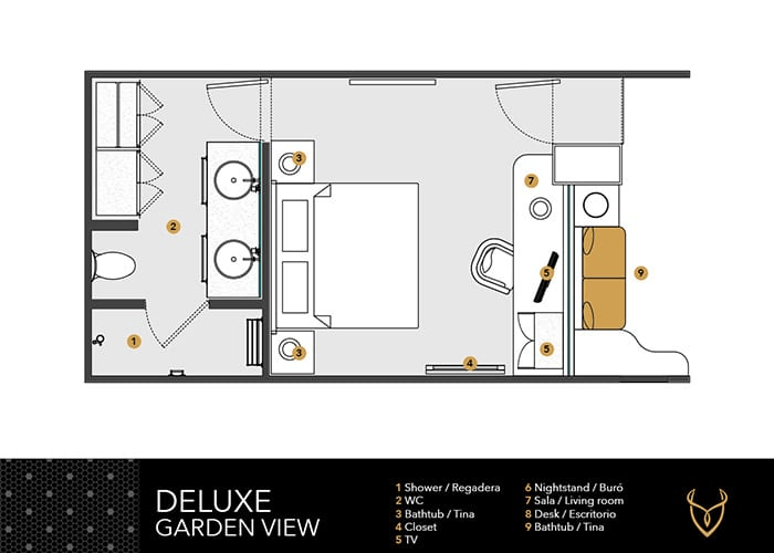 Deluxe Garden View Layout