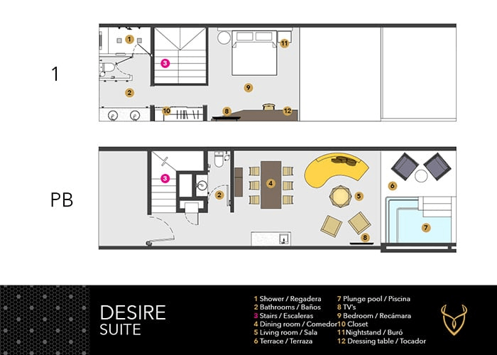 Desire Suite layout